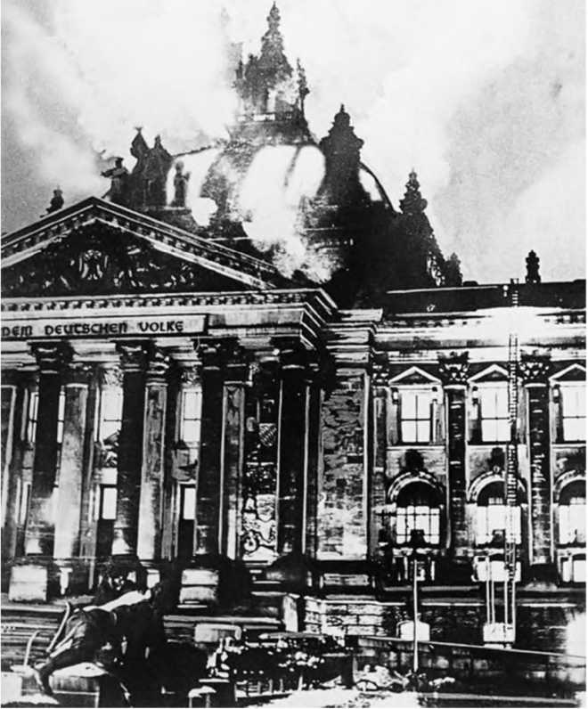the burning of reichstag building