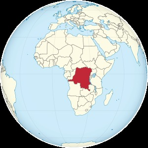 Democratic Republic of the Congo on the globe (Africa centered).svg